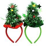 XONOR 2-Pack Christmas Tree Headbands Christmas Headwear Party Fancy Dress Novelty Accessory