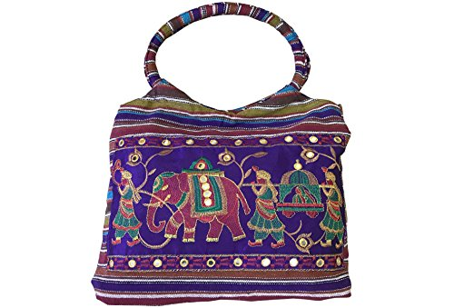 Embroidered Ethnic Tote Cuban Bag And Women Purple Girls Shoulder Club Handmade Summer Elegant 84qwSqURt