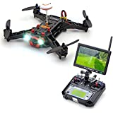 ARBUYSHOP Eachine Racer 250 FPV Drone w / Eachine I6 2.4G 6CH transmisor 32CH 7 pulgadas Monitor de la cámara de HD RTF