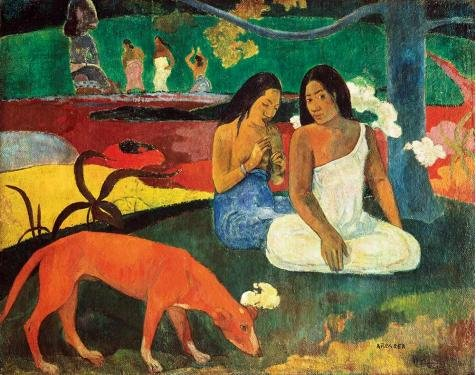 (Oil Painting 'Paul Gauguin-Happiness,1892' Printing On Perfect Effect Canvas , 8x10 Inch / 20x26 Cm ,the Best Home Theater Artwork And Home Decor And Gifts Is This Replica Art DecorativePrints On Canvas)