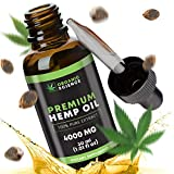 Hemp Oil Drops for Pain Relief Anxiety Sleep Support (4000mg | 30ml) Non GMO Organic Grown & Made in USA, 100% Legal, Best Pure Herbal Supplements, Stress Relief, Mood Support, Skin Care