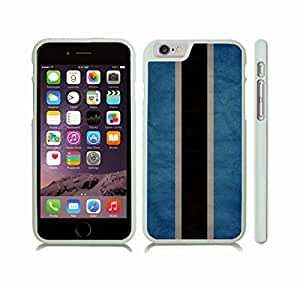 iStar Cases? iPhone 6 Plus Case with Botswana Flag Distressed Look Design , Snap-on Cover, Hard Carrying Case (White)