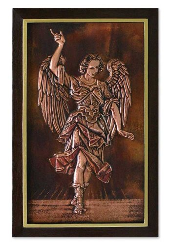 NOVICA Angel Large Copper and Cedar Wood Wall Art, Metallic, Angelic Messenger'