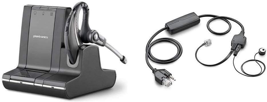 Plantronics Savi Office W730 Headset Bundle with Plantronics APV-63 EHS Adapter (Avaya)