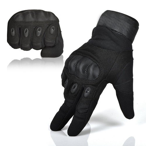 Men's Hard Shell Full Finger Army Tactical Gloves Special Ops Military Gear Breathable Sport Gloves Bicycle Bike Cycling Gloves Riding Biker Gloves Airsoft Combat Shooting Gear Gloves Black Large (Special Ops Gear compare prices)