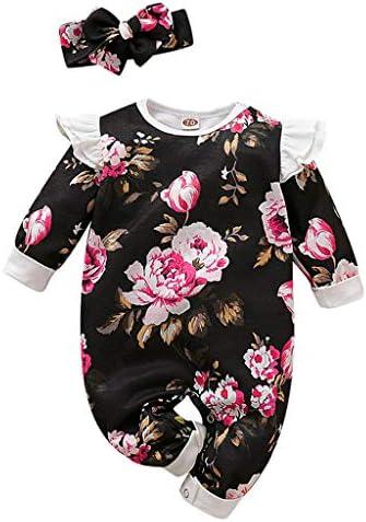Moneycom Jumpsuit, für Neugeborene, Baby, Jungen, Mädchen, Blumendruck, Jumpsuit