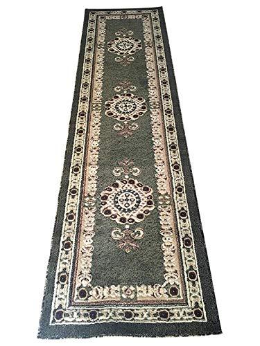 - Americana Traditional Long Persian Runner Area Rug Green Design 121 (32 Inch X 10 Feet)