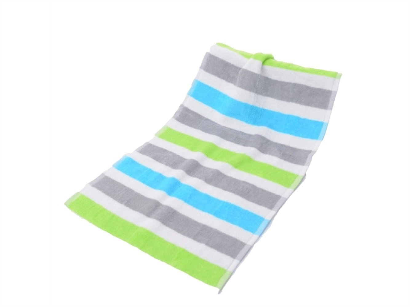 Wesource Activates Striped Pure Cotton Soft Absorbent Adult Wash Face Towel Household Couple Towel Wiping Hands Square Towel(Green)