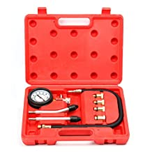 8milelake Professional Petrol Gas Engine Cylinder Compression Tester Gauge Kit Auto Tool