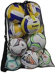 Rudmox Heavy Duty Mesh Ball Bag,Drawstring Sport Equipment Storage Bag for Basketball, Soccer, Sports Beach an