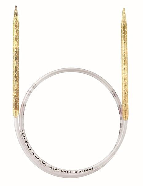 Addi Circular Knitting Needle High Quality Plastic Champagne Gold Glitter
