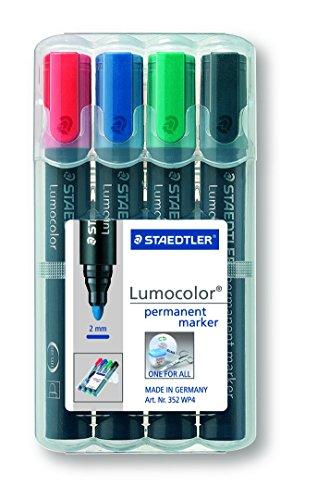 Staedtler 352 WP4 Lumocolor permanent marker 4 Stück in aufstellbarer Staedtler-Box