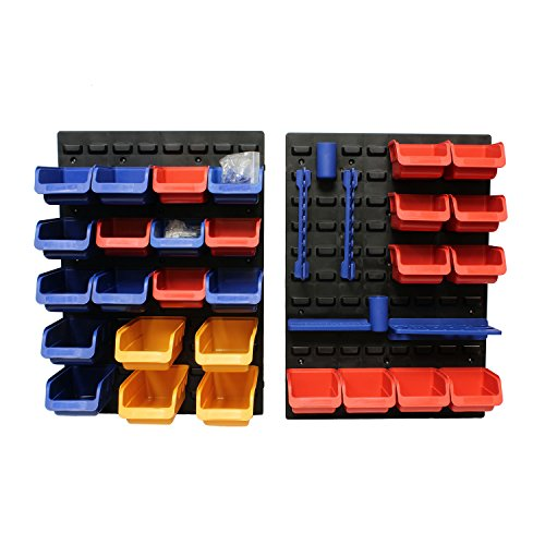 ABN Tool Holders Multi Tool Organizer Tool Tray Wall Mount Pegboard 45pc – Wrench Holder, Parts Tray, Tool Storage Rack by ABN