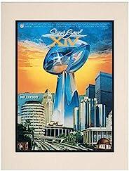 "1980 Steelers vs Rams 10.5"" x 14"" Matted Super Bowl XIV Program - NF"