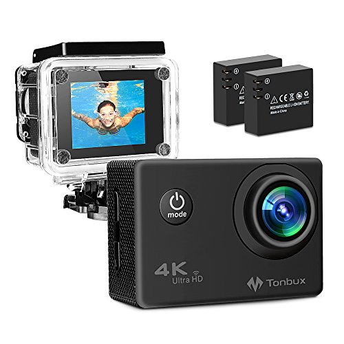 TONBUX Action Camera 17MP 1080P HD WiFi Waterproof Sports Ca