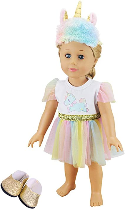 """Our Generation American Girl Journey Gotz 18/"""" Doll Shoes Clothes Gold Shoes"""