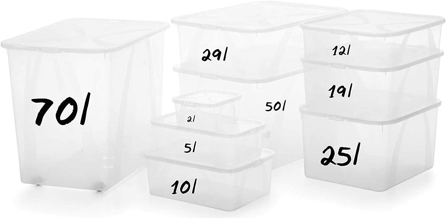 transparent 5 L 34, 4 x 20, 2 x 10, 6 cm Rotho Arco Aufbewahrungsbox mit Deckel 5 L Kunststoff PP