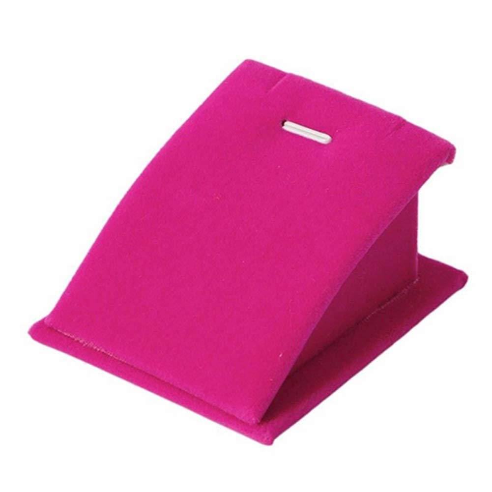 Academyus Velvet Necklace Pendant Chain Jewelry Display Stand Holder Show Rack Hot Pink