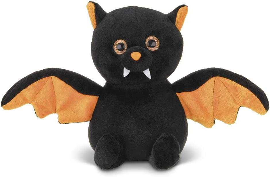 Bearington Echo Plush Stuffed Animal Halloween Black Bat, 7.5 inches: Toys & Games