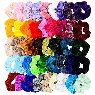 chloven-45-pcs-hair-scrunchies-velvet