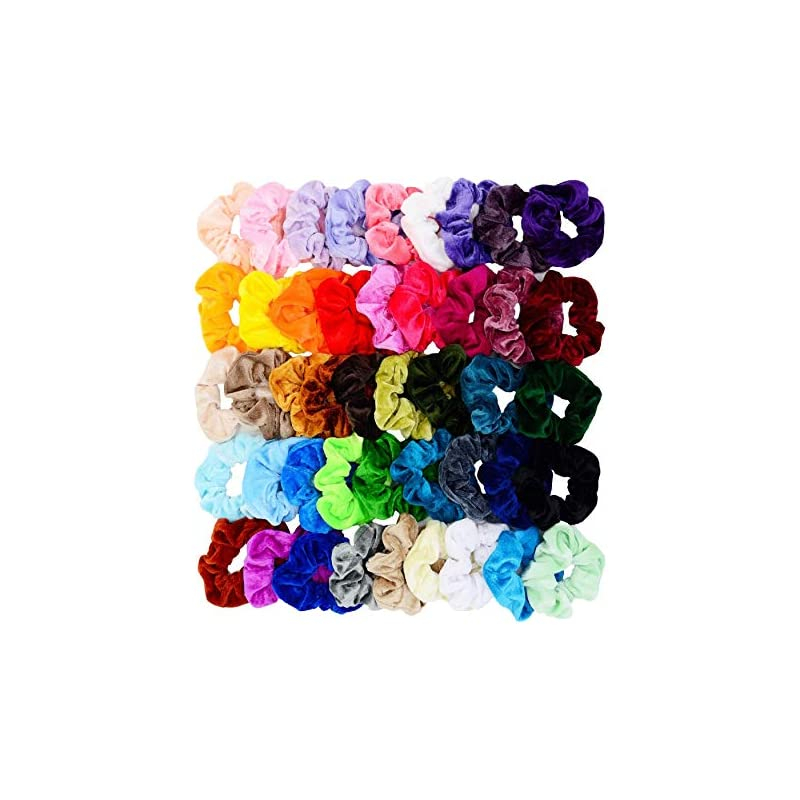 chloven-45-pcs-hair-scrunchies-velvet