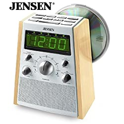 Jensen JCR560 AM/FM Stereo Dual Alarm CD Clock Radio