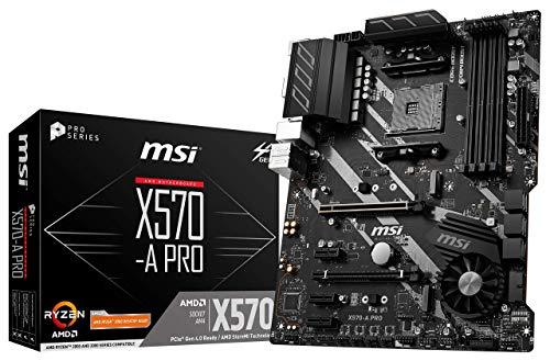 MSI X570-A PRO Motherboard (AMD AM4, DDR4, PCIe 4.0, SATA 6Gb/s, M.2, USB 3.2 Gen 2, HDMI, ATX) (Renewed)