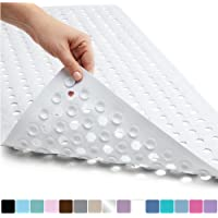 Gorilla Grip Original Patented Bath, Shower, and Tub Mat, Machine Washable, Antibacterial, BPA, Latex, Phthalate Free, Square Bathroom Mats with Drain Holes and Suction Cups, XL Size Bathroom Mats