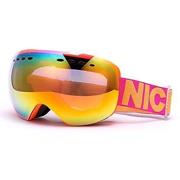 SE7VEN Gafas de ski profesional,Unisex Lente de doble capa ...