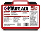 'Be Smart Get Prepared 250 Piece First Aid Kit, Exceeds OSHA ANSI...