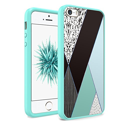 iPhone SE Case, iPhone 5s / iPhone 5 Case, Capsule-Case Hybrid Slim Hard Back Shield Case with Fused TPU Edge Bumper (Teal Green) for iPhone SE / iPhone 5s / - 5s Tiffany