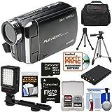 Bell & Howell DV30HD 1080p HD Video Camera Camcorder (Black) 32GB Card + Battery + Case + Tripods + LED Video Light + Kit