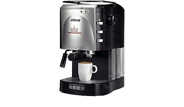 Ufesa CE7140 Dueto Creme, Negro, 1100 W, 220-240 V, 220-240 MB/s, 50 Hz, 240 x 320 x 200 mm - Máquina de café: Amazon.es: Hogar