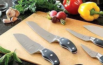 Juego de 5 cuchillos ergonómicos iCook? de acero forjado: Amazon.es ...
