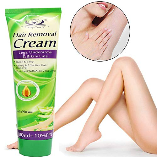 Binmer Pretty Cowry Natural Painless Depilatory Hair Removal Cream 110ML for Body Leg Armpit Unisex (Green)