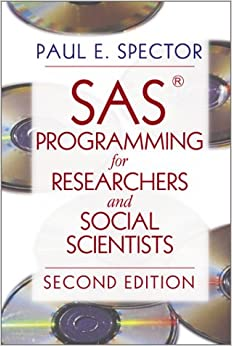 Book SAS Programming for Researchers and Social Scientists