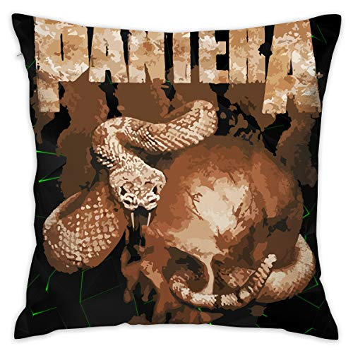 - LixuA Pillow Covers Pantera Rattler Skull Home Decor Throw Pillow Covers Cushion Cover
