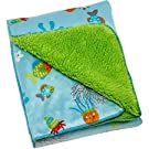 Little Bedding by NoJo Ocean Dreams Velboa Blanket