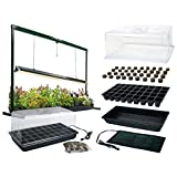 MegaGrow Indoor Seed Starter Plus with 4′ long Grow Light System For Sale