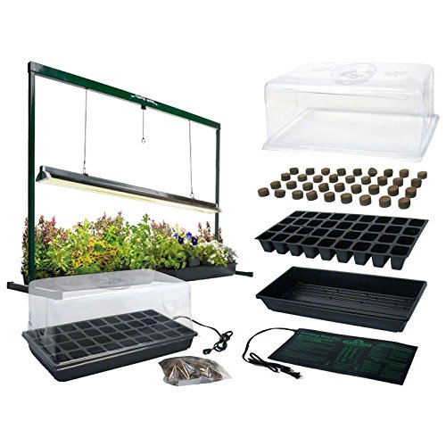 $159.00 MegaGrow Indoor Seed Starter Plus with 4′ long Grow Light System 2019