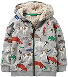 Toddler Baby Boys Autumn Winter Fleece Jacket Thick Warm Outerwear