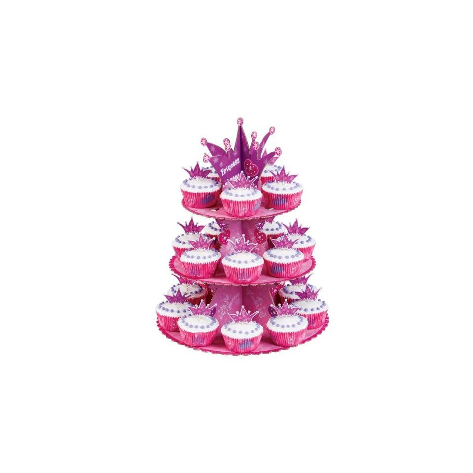 Wilton Princess Cupcake Stand Display Kit Dessert Tray Birthday Cake
