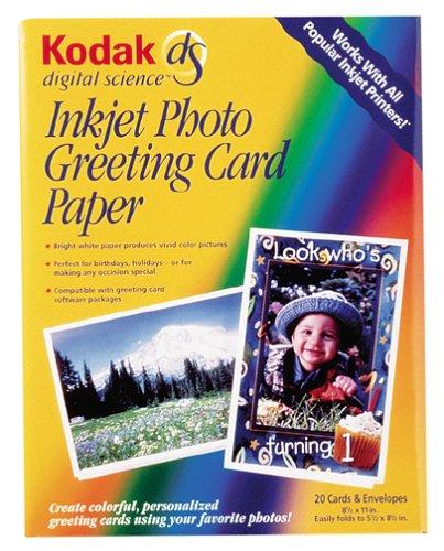 - Kodak 8.5 X 11IN Inkjet Photo Greeting Card Paper (20-Sheet)