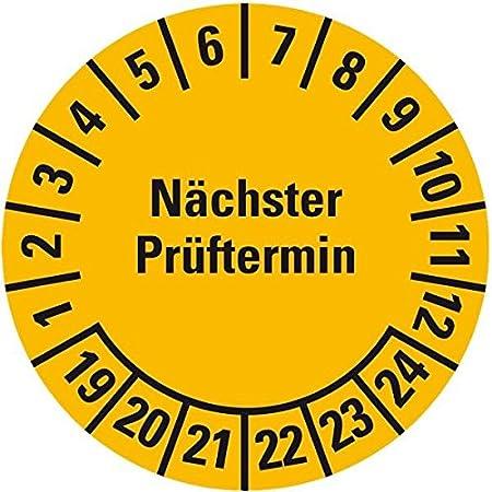 Prüfplaketten Nächster Prüftermin 2018-2023 Ø 2,5 cm 100 Stück