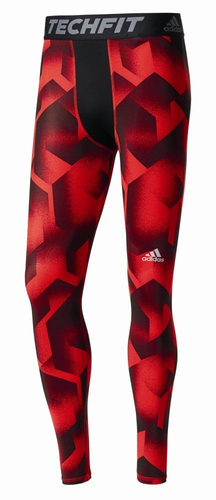adidas Men's Tanf Tf Tights Leggings Black/Negro/Rojo Large AZ6079