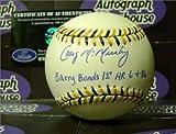 Craig McMurtry Signed Baseball - Barry Bonds 1st HR 6-4-86 - Autographed Baseballs