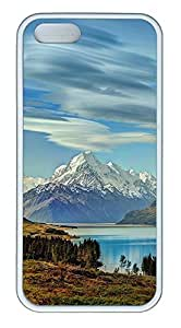 iPhone 5 5S Case Mount Cook, New Zealand TPU Custom iPhone 5 5S Case Cover White