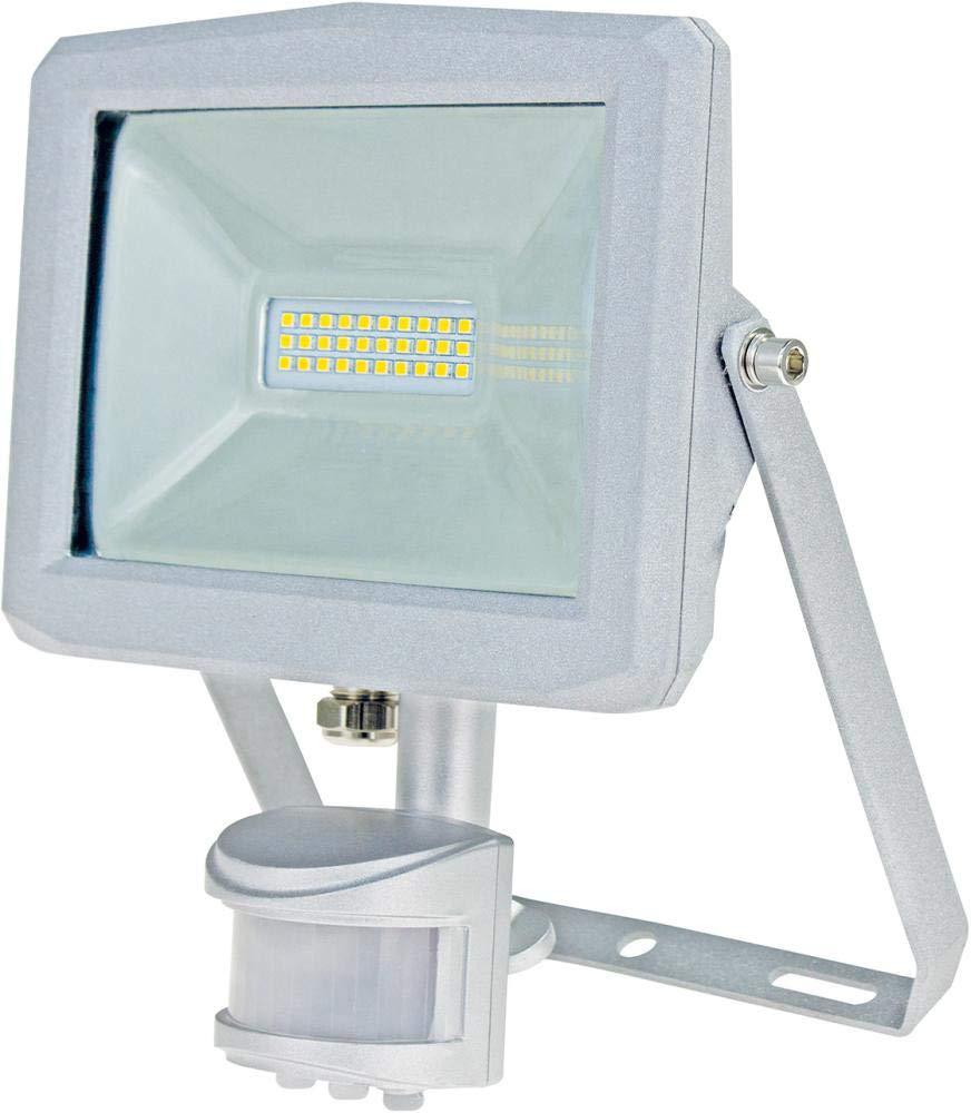 As–Schwabe 46407Slim Line Chip Faretto a LED con sensore di movimento, molto stretta, 20W, 230V, Argento 20W 230V as - Schwabe
