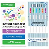 EZ Level 6 Panel Instant Urine Drug Test Multi-Drug Testing Kit Screen Dip Card (15 Tests)