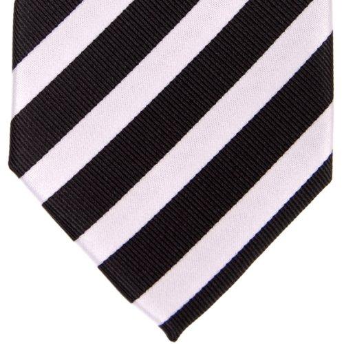 Regimental Stripe and Men's Exquisite Colors Tie Various Microfiber Black White Retreez Woven Oqf5xvnEwv